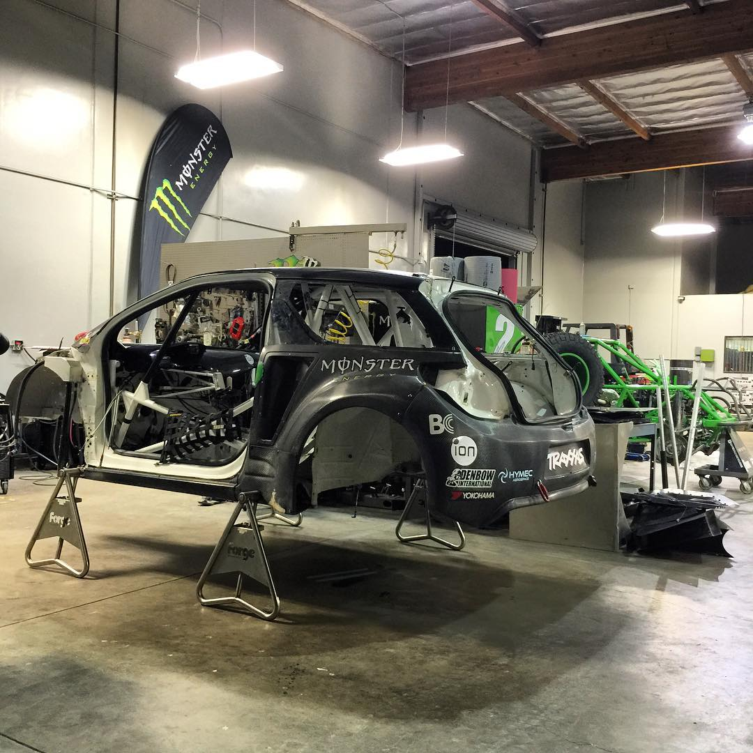 Late shifts at @caseycurrie shop getting my DS3 RX all prepped up and ready for the next @fiaworldrx event in Canada in a couple of weeks time. @crandoncrusher laying down the tig weld porn on some chassis upgrades  Thanks to @rugbyjake for the squeaky...