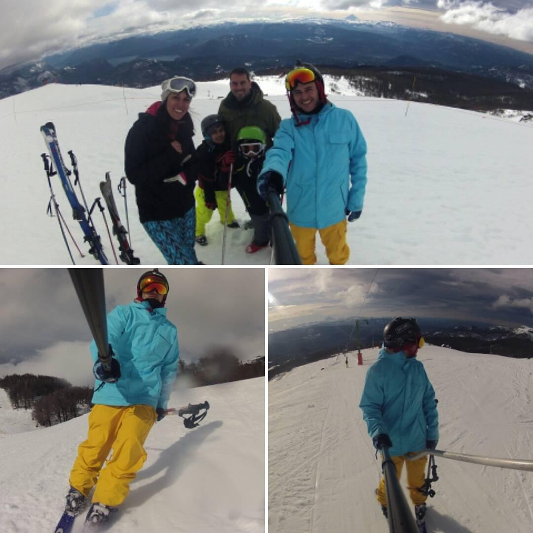 Y nos fuimos de paseo, viejo!!! #Chapelco #TravesíaBaja #Family #Snowblades #Ski