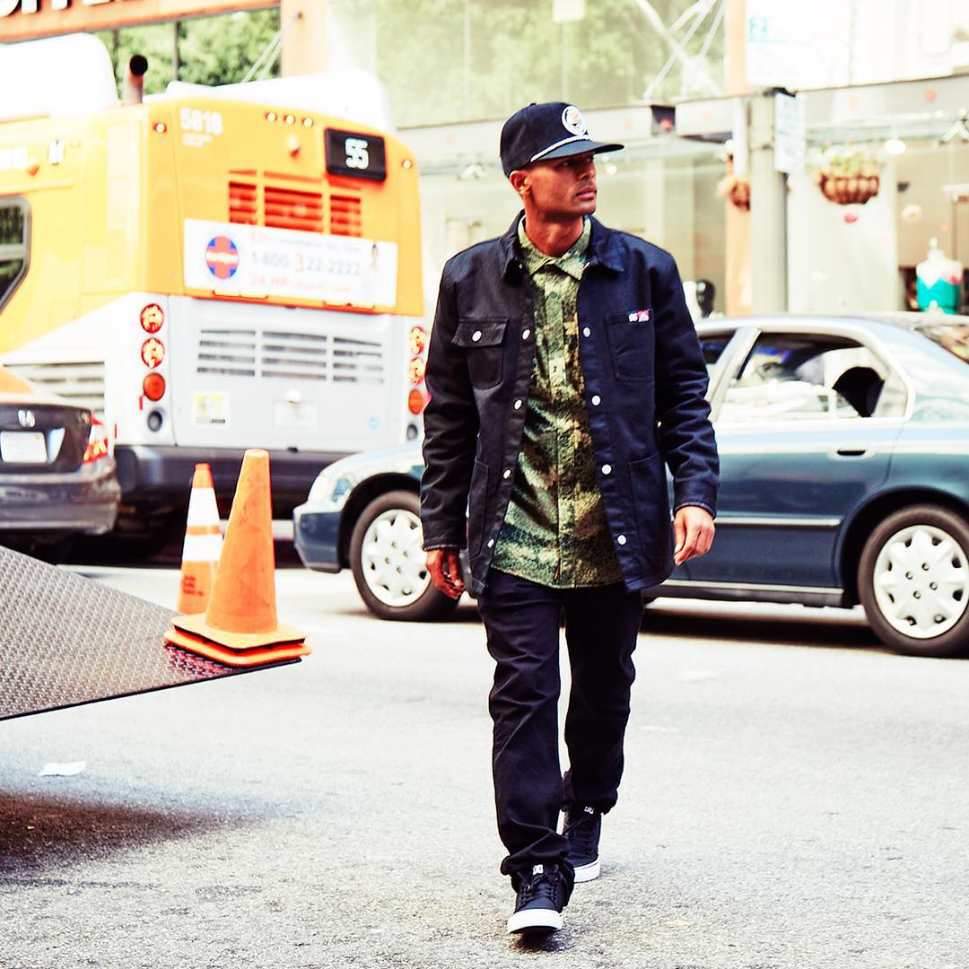 The Ben Davis jacket on the streets of downtown Los Angeles: DC Defined by @tommyfynn.  See the entire Fall 2015 lookbook at: dcshoes.com/definedbylookbook #DCDefinedby #DCShoes #Tommyfynn