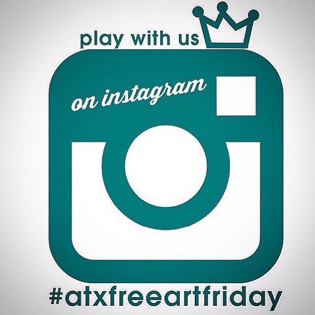 Happy! #atxfreeartfriday • • Who is ready to play? Keep checking this post to see who is hiding art and follow the hashtag #atxfreeartfriday • • For info on the game go to atxfreesetfriday.com