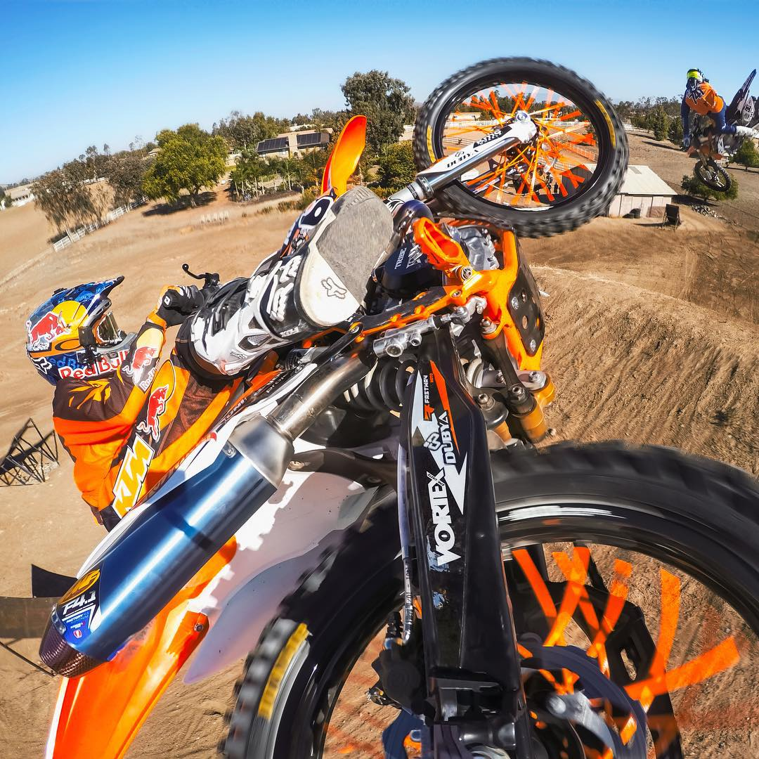 "GoPro Featured Photographer - @jensen_granger  About the Shot: ""Myself and @rlarzik traveled down to Southern California for the day to do a FMX Moto production with @rendawgfmx and @nateadams741. I had been thinking of some different ways to mount a..."