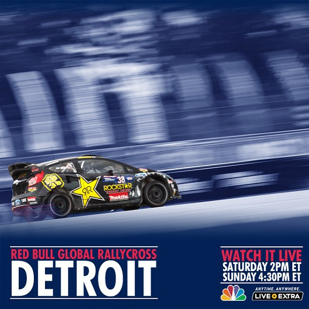 Tomorrow and Sunday NBC will be broadcasting my #GRC race! Saturday at 2pm ET and Sunday at 4 30pm ET. We will be racing at Belle Isle Park. Fist time GRC visits Detroit! Check it out!