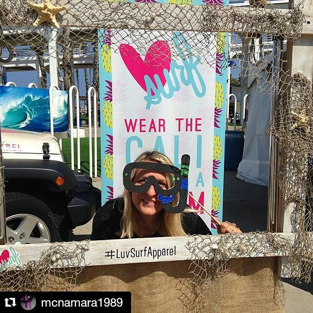 #Repost @mcnamara1989 #youwon ! Come by our booth and get your prize! ! #luvsurf #winner ・・・ #LuvSurfApparel