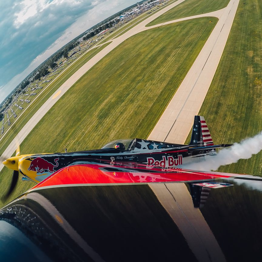 @kirbychambliss takes flight with GoPro HERO4 at @EAA this weekend. He nails this shot in timelapse mode with a .5 second interval #GoPro #Aviation #EAA #OSH15