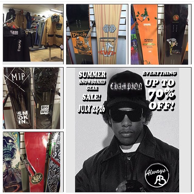 @alwaysboardshop is having a sale this weekend check em out! #supportyourlocalsnowboardscene|#supportYOURlocalsnowboardSHOP | #weareOK | #handmadeUSA