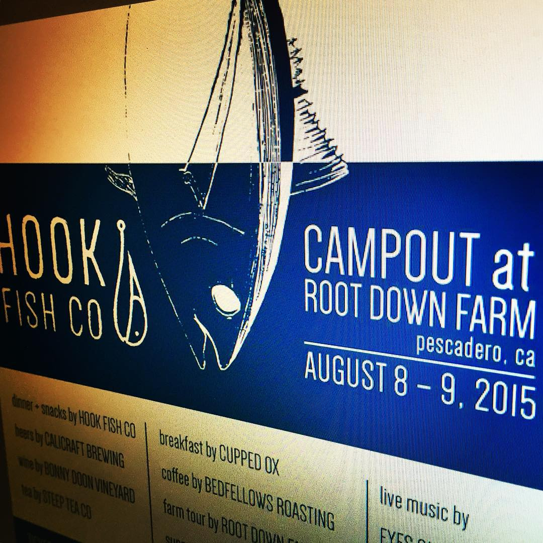Grab your tent, wetsuit & your favorite fishy board – cause we're heading out to Pescadero, CA in couple weeks for the 1st annual @hookfishco Campout event! Aug 8-9 at @root_down_farm about 45 mins South of SF!  And besides the empty lineups on the...