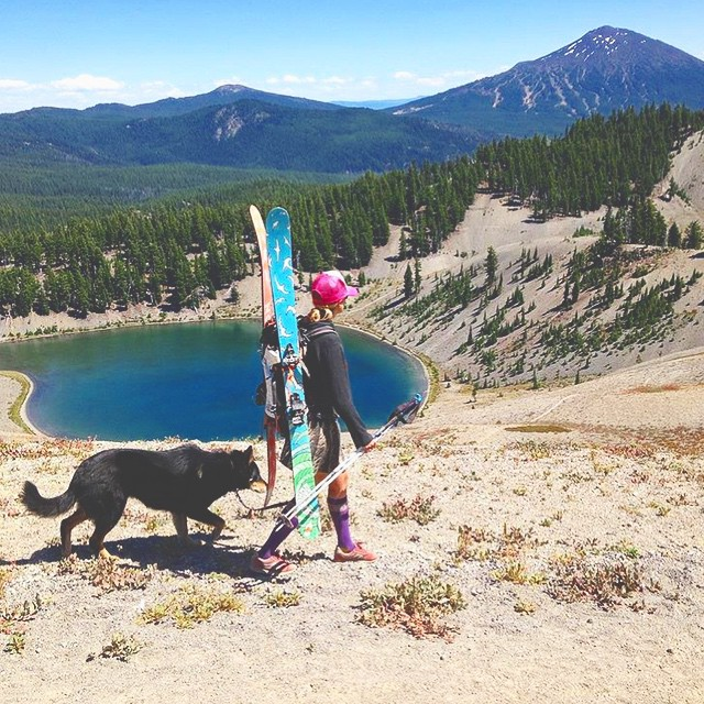@tahomajillian is killing the summer multi-sport scene; hike, ski, bike, and finally dance! What do your multi-sport days look like? PC: @stateofthebackcountry  #sisterhoodofshred #multisporting #backcountryskiing