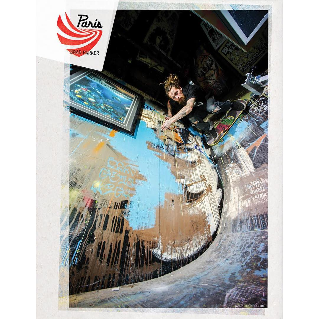 Team rider and beloved madman @gnarlivin is always working on building or breaking something new at his house. Here he gets high on a rad wallride in his garage - maybe you saw this ad in one of the last issues of @skateslate?
