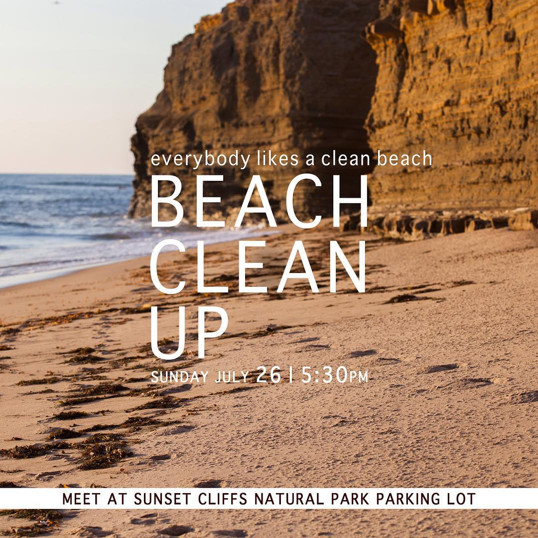 This Sunday we'll be hosting a beach clean up with some of our good friends! Come help us keep our beaches and oceans clean and healthy
