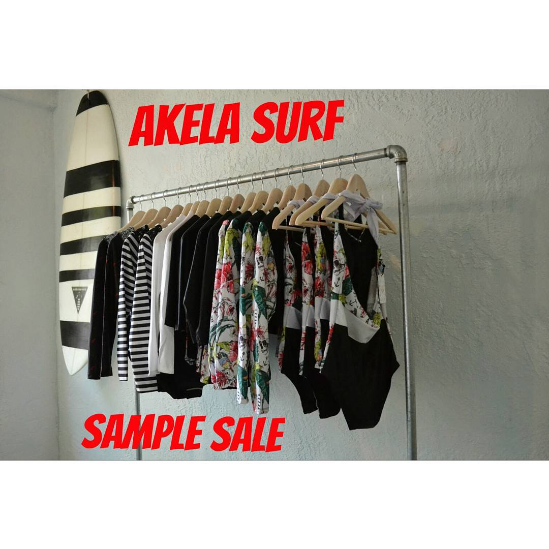 #AkelaSurf  Sample  Sale  August  1st  and 2nd 11:00 AM  to 6:00 PM  5490 Chemin Queen Mary, Montréal, QC H3X 1V6  Aloha ! ! !