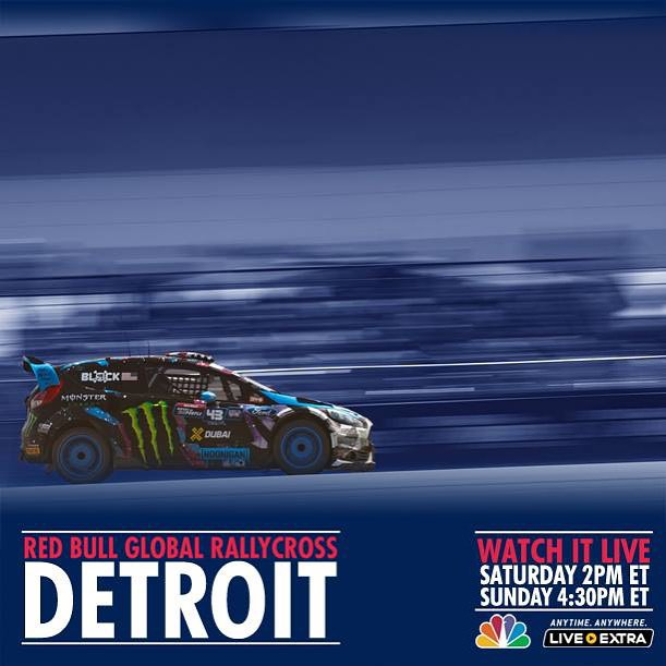 It's a Global Rallycross Championship double header race weekend! Watch round 5 LIVE on NBC today at 2pm ET, and round 6 tomorrow at 4:30pm ET. #belleisle #GlobalRallycross