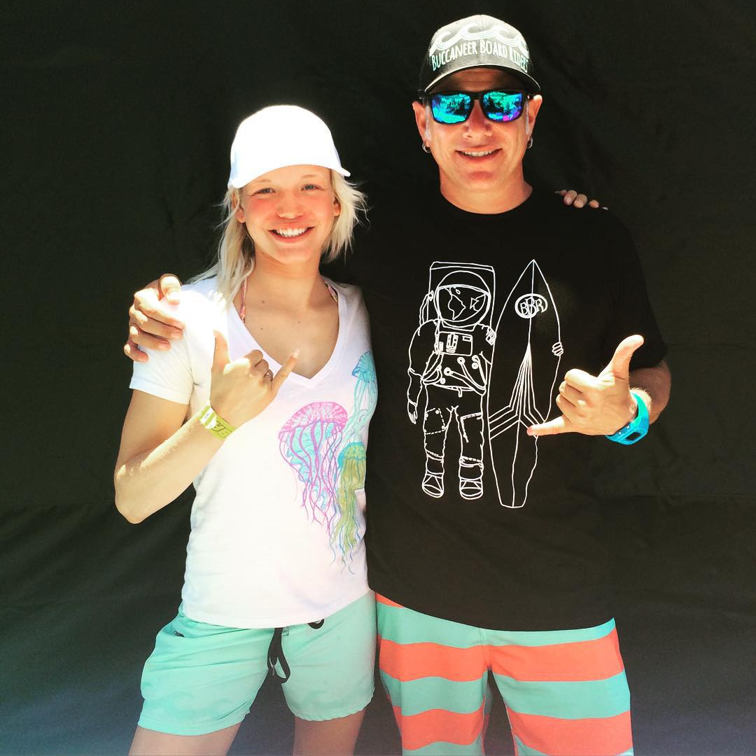 At the Supergirl Pro with Teamrider Bethany Zelasko #bbr #bbrsurf #bbrsurfwear #buccaneerboardriders #bethanyzelasko #teamrider #supergirlpro #oceanside