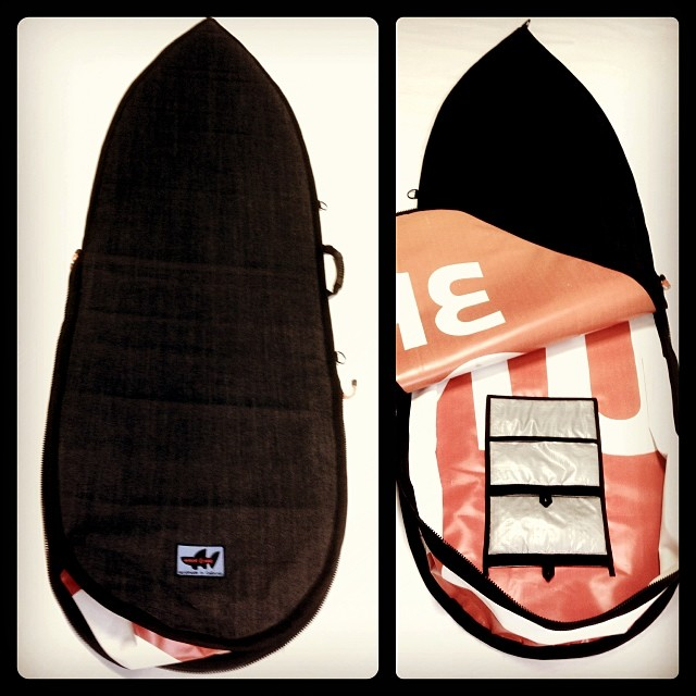 "Wave Tribe custom #upcycle 6'8"" #boardbag #madeinusa"