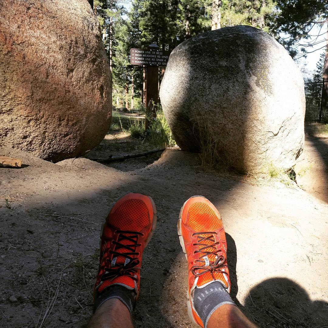 Great trail run with our new @montrailoriginal Fluid Flex Runners from @tahoemountainsports and now it's time for the #beach with our Cascade Backpack & Cooler! #takeittothetrail #takeittothebeach #getoutdoors #backpacks #coolers #graniterocx