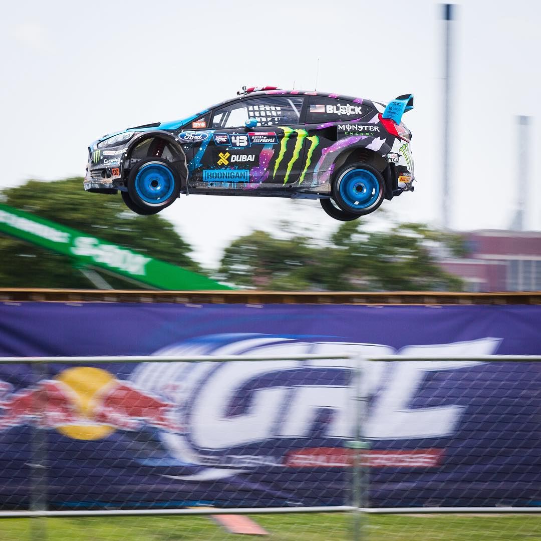 Just won my first heat here at #GlobalRallycross Detroit! Stoked to get this double header started with a heat win. Heading straight into the semifinal now. #belleisle