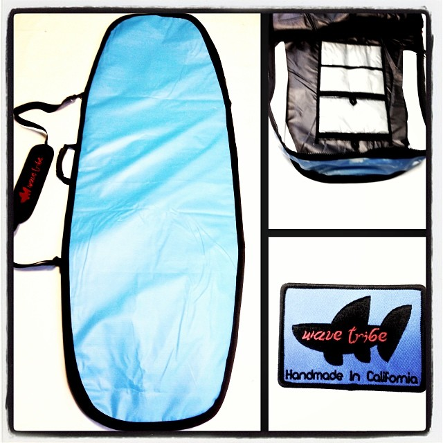 Wave Tribe custom #upcycle boardbag for vanguard #firewire. #madeinusa