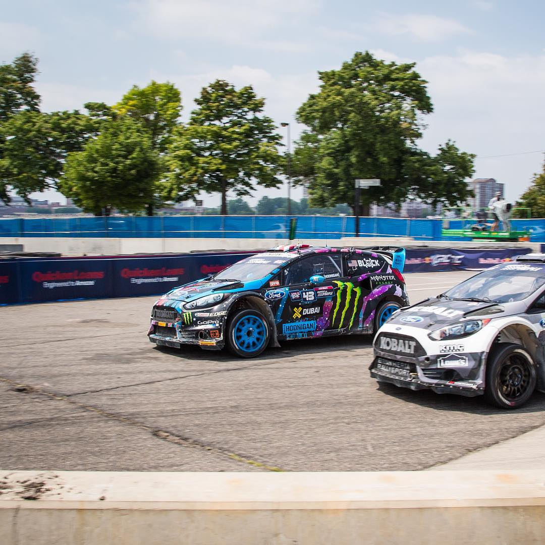 #GOLDSTICKERTIME: Congratulations to HHIC @kblock43 for winning #GlobalRallycross round 5 in Detroit and as always, when we win you win! Every order made on #HooniganDOTcom will receive a FREE gold Hoonigan sticker, spend $50 and we'll sweeten the deal...