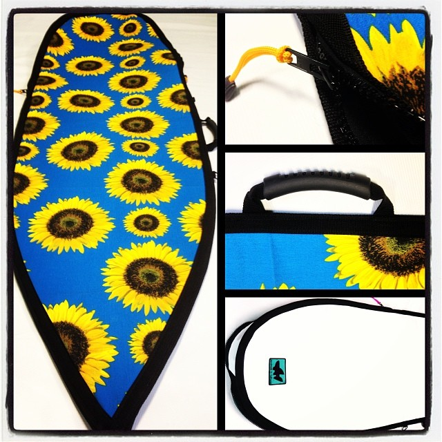 Wave Tribe Custom Boardbag ala Van Gogh. #madeinusa #upcycle #boardbag