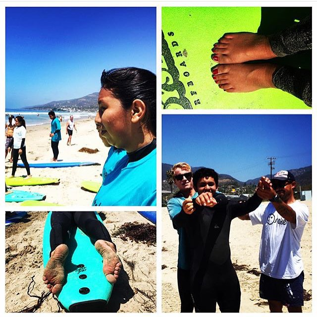Repost of a great day of surf mentor from @kselke. Thank you for making it out and keeping the kids stoked! #surf #surfer #surfergirl #surfing #surfboard #wetsuit #beach #sand #summer #sun #waves #water #ocean #youth #teens #community #citylife #mentor...