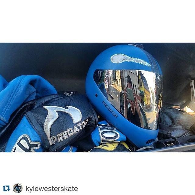 Team rider @kylewesterskate took a nasty crash at Kozakov yesterday. The damaged helmet says it all! Glad you're ok Kyle! Repost : @kylewesterskate ・・・ My race at Kozakov ended early in the second round with a gnarly crash. This is the second time my...