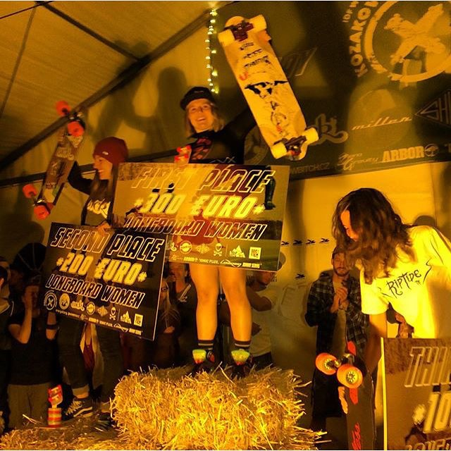 WE ARE STOKED!  #Kozakov Challenge Women's Podium:  1. @emilylongboards  2. @spokywoky  3. @lydebegue  4. @cassandraduchesne  Congrats to all the ladies who killed it and we're specially stoked on @lydebegue's 3rd place. First @idfracing podium for one...