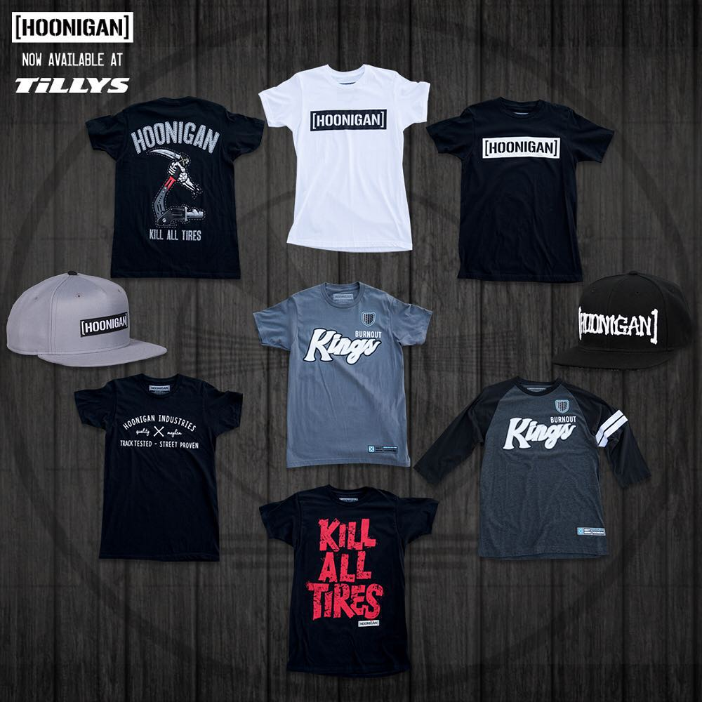 Hoonigan gear just launched at select @Tilly's stores! It's rad to see the company growing to more and more stores, which means the gear (made by gearheads, for gearheads) is more widely available for you fans. Check out this exclusive lineup of...