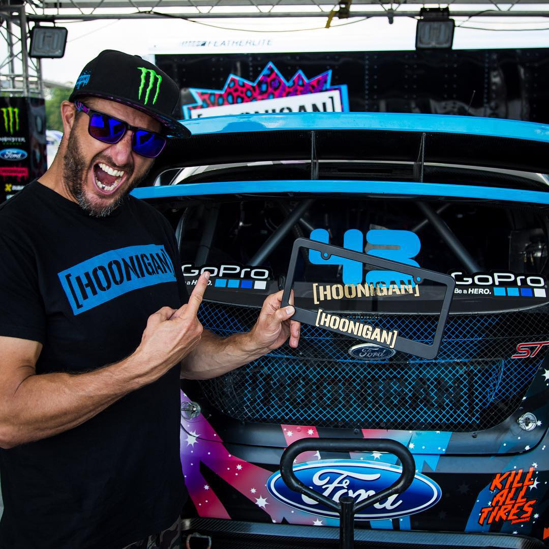 HHIC @kblock43 won at @redbullgrc Detroit yesterday, so you know what that means, #GOLDSTICKERTIME! All purchases on #hoonigandotcom come with a free gold sticker, and those over $50 come with a gold plate frame. Offer ends Monday night. Block is...