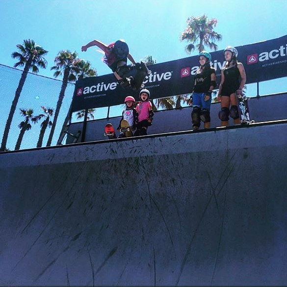 Congrats to #TeamB4BC rider @allyshabergado who just took first place at the @supergirlpro Skate Pro presented by @activerideshop!  #behealthygetactive #supergirlpro