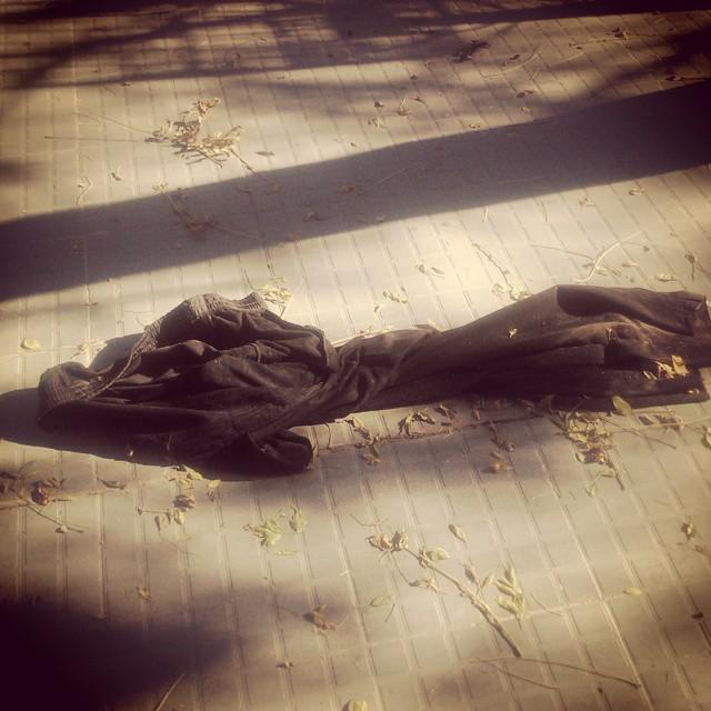Uhh mirá, alguien estaba haciendo macanas y dejó su pantalón en el camino (nuestra vereda). #Viernes #patadelana