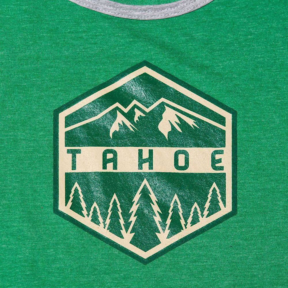 Close up of ours new tank. #risedesigns #tanktop #tahoe #graphicdesign #screenprinting #trees #mountains