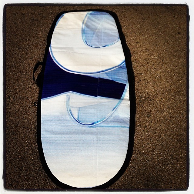 Wave Tribe made in USA #boarbag #upcycled billboard. Check out more at wavetribe.com