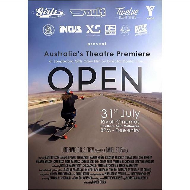Ready?  Next OPEN premiere: MELBOURNE!  LGC Australia Ambassador & OPEN rider @jennarus is hosting @danieletura's OPEN this Friday July 31st. Go to longboardgirlscrew.com to check all details and schedule.  Big thanks to @vaultskate for the support!...