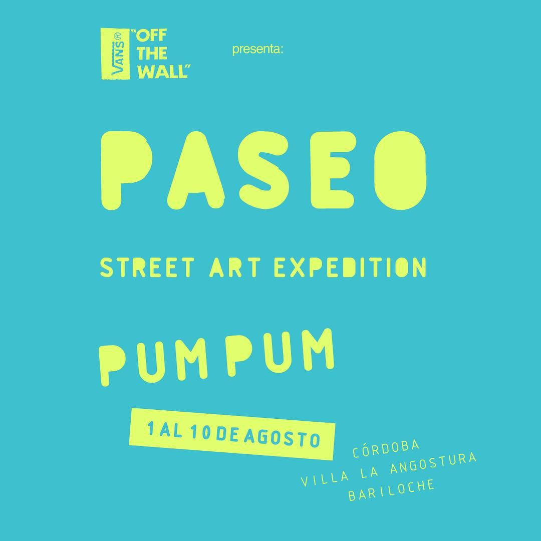 Les presentamos PASEO, un proyecto ideado por @kosovogallery que lleva a @holapumpum al encuentro de paredes en contexto natural para desarrollar una serie de murales en el sur argentino