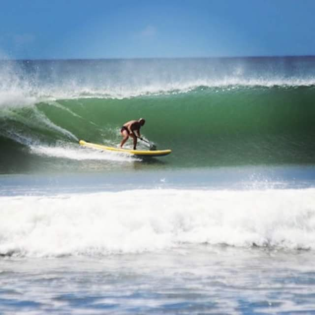 Joey Saputo of @supcolo surfing the #halaplaya with @standuppaddlecornislands in #Nicaragua . #adventuredesigned #surfdesigns #theweeklyinsta #standuppaddle #sup #surf #halagear #halagearsup #surfing #wave #waves #ocean #sea #standuppaddleboard #water...