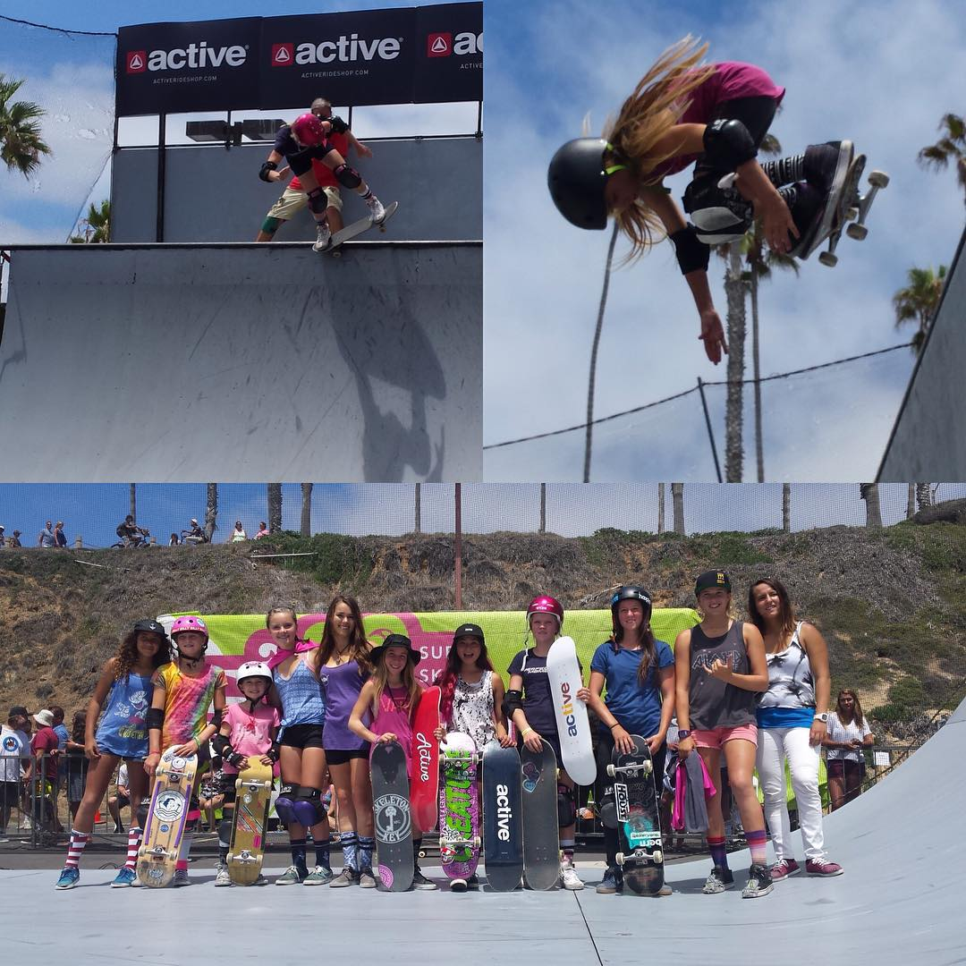 Great weekend at @supergirlpro All the girls were shredding in and out of the water! #ridetrue #ladiesofshred #girlsthatsurf #girlsthatskate