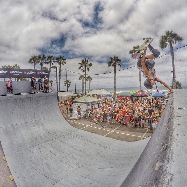What a great turnout at @supergirlpro! Amazing shot of @allyshabergado by @elliotsloan!