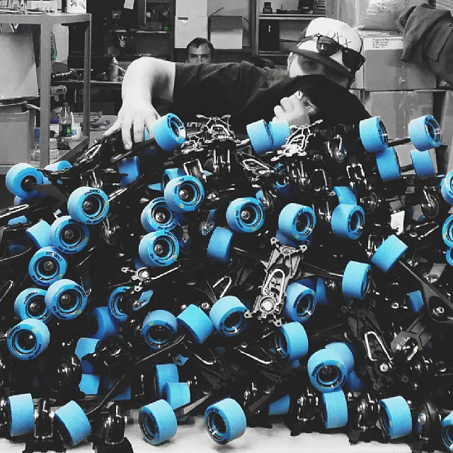 Stacks on stacks of G3-Rs #Freebord #snowboard the streets