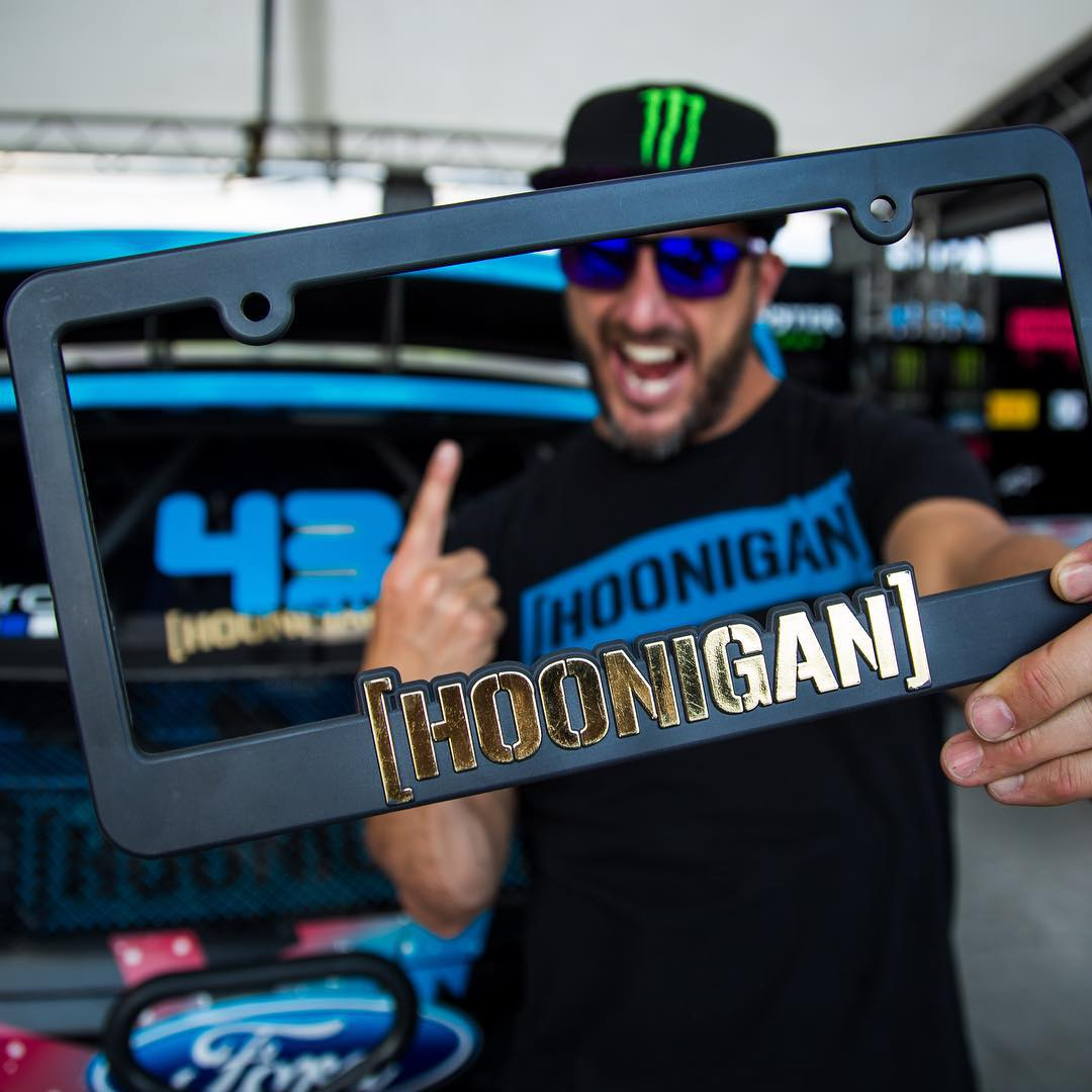 Want this rad, not-for-sale GOLD plate frame? Well, to celebrate @kblock43's win over the weekend, it's yours free with any purchase over $50 on #hoonigandotcom. If that's too rich for your blood, make any order and we will send you a GOLD die cut...