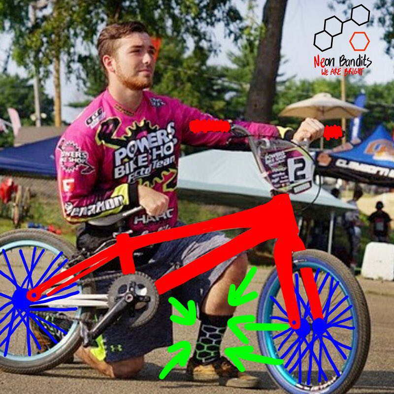 #BMX racer @racinbran3 knows it's always best to #grabapair before you #ride #actionsports #bike #mustbethesocks #tricks