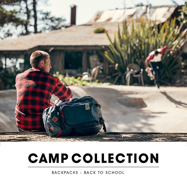 "We've completely re-designed our backpack line for our ""Camp Collection"" now available at ElementBrand.com and in skate shops world wide. A percentage of each bag sale directly benefits our skate camp (@elementskatecamp) and our wilderness programming..."