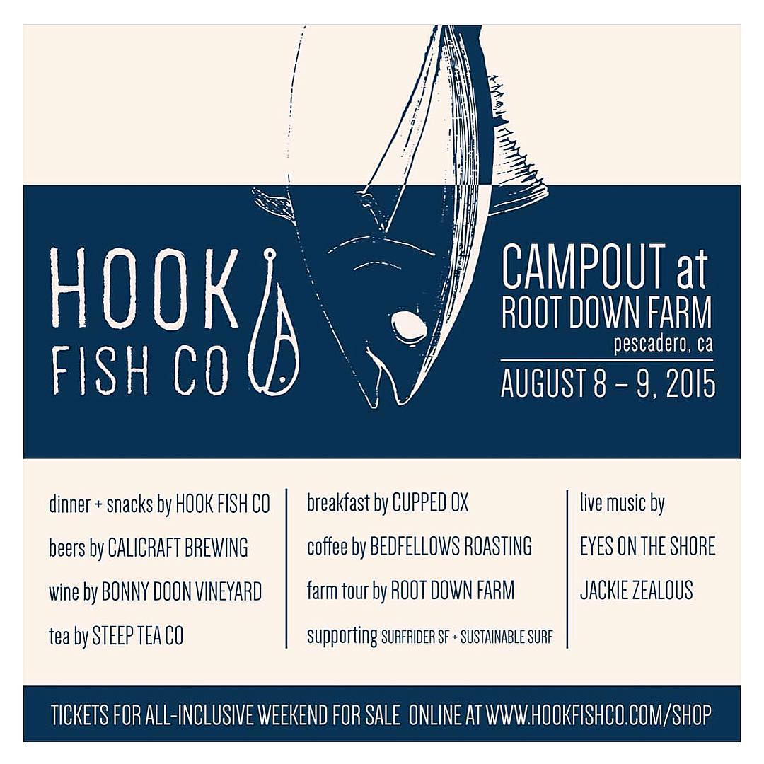 No ticket to Outside Lands? Escape the city & join us for @hookfishco 1st Annual Camp Out Event at @rootdownfarm Aug 8-9 in Pascadero, CA. Link to purchase tickets in @hookfishco profile. Supporting @sfsurfrider & @sustainsurf #sfsurfrider