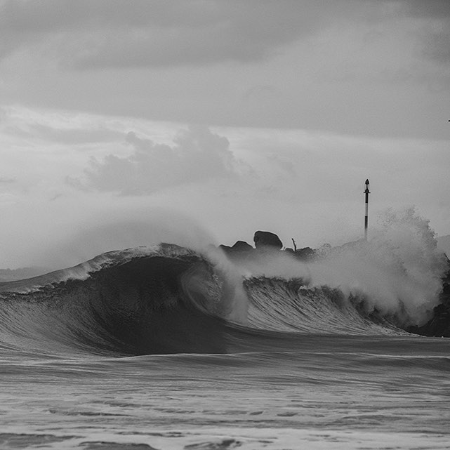This wedge of a right hander has more crease than your grandpas pants. Great black and white image by the even greater @nicolalugo. Thanks for all the shots buddy!