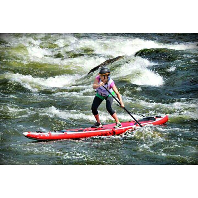 Team rider @wvmelanie #racing on the #HalaNass . #halagear #whitewaterdesigned #supracing #theweeklyinsta #standuppaddle #supwhitewater #adventuredesigned #whitewater #weloverivers #sup #paddling #riverlife #water #whitewaterwomen #outdoorbella...
