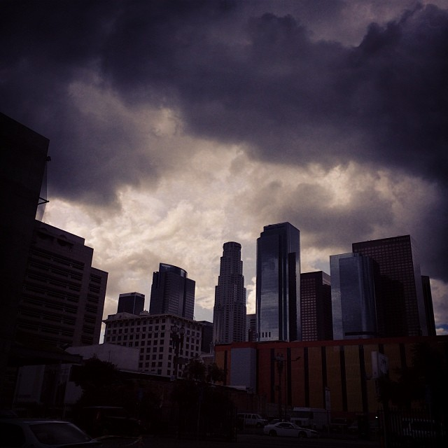 Doomsday || The City of Angels. #losangeles #dtla #weather #willwesurvive? #whatsupeastcoast #aggressiveclouds