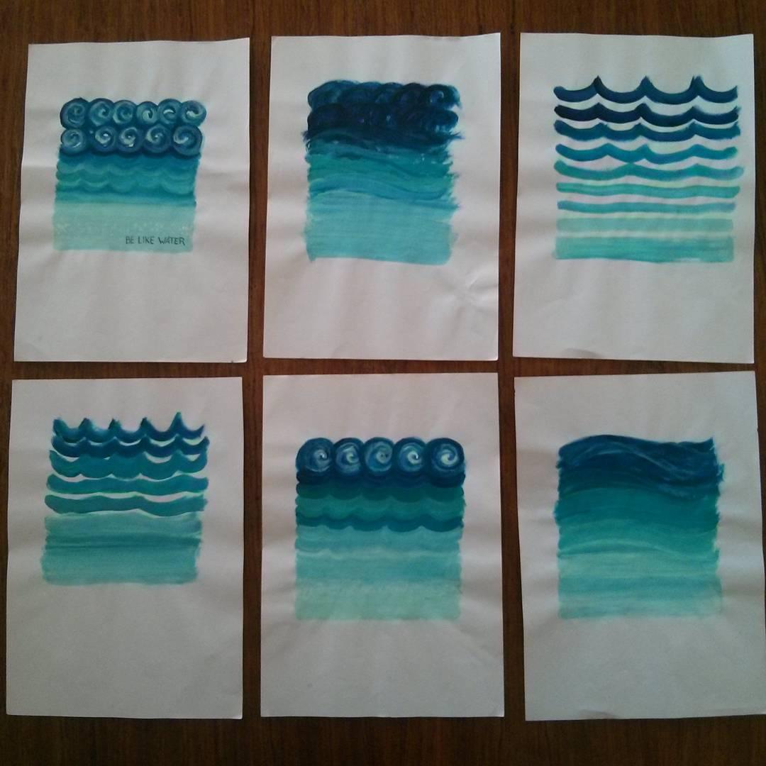 Anticipo de Temporada. Avances del nuevo Arte BE LIKE WATER!! La mente es comparable con el Océano.  En la superficie esta agitado y turbulento. Y en la profundidad esta calmado y pacífico. Esta profundidad es la escencia de todas las cosas. La energía...