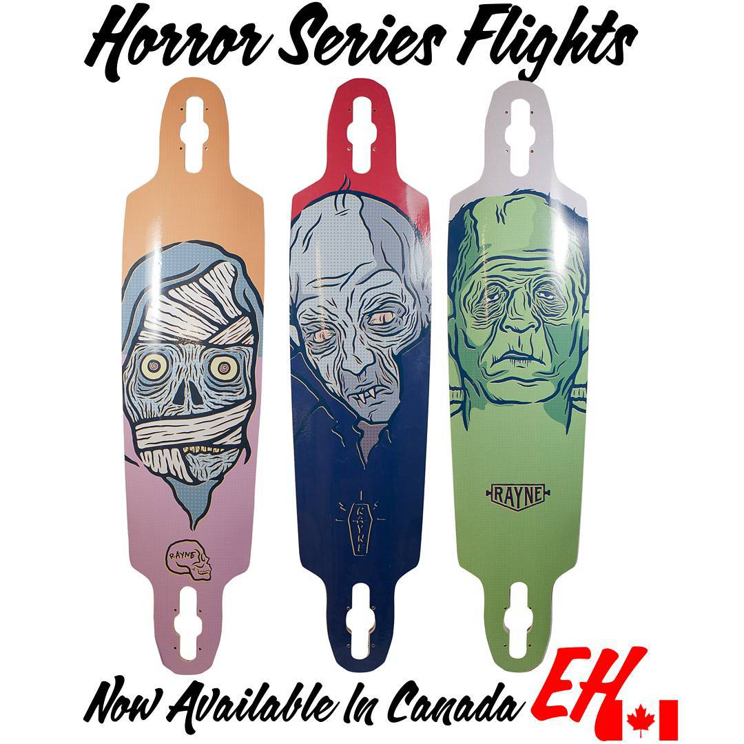 Looking for a new whip for your big rip?  @centredist has got the new #rayneflight with #horrorseries graphics available now!  Ask your favorite canadian retailer to get them in today!  #wemakerayne #goingforarip #bahd