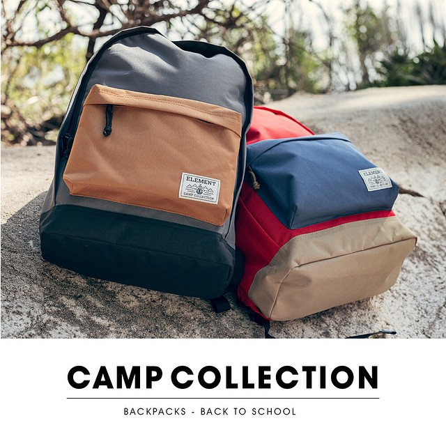 The Camp Collection is now available at ElementBrand.com and in skate shops world wide >>> A portion of every bag sold directly benefits our Skate Camp (@elementskatecamp) and our wilderness programming (@elementalawareness) >>> #ElementCampCollection