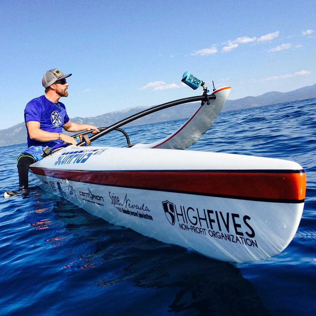 The #grantkorganheist is here! @grantkorgan is taking over our Instagram feed for the next 24 hours as he paddles around Lake Tahoe breaking 3 world records! He is going to show us what it is really like to be a #HighFivesAthlete