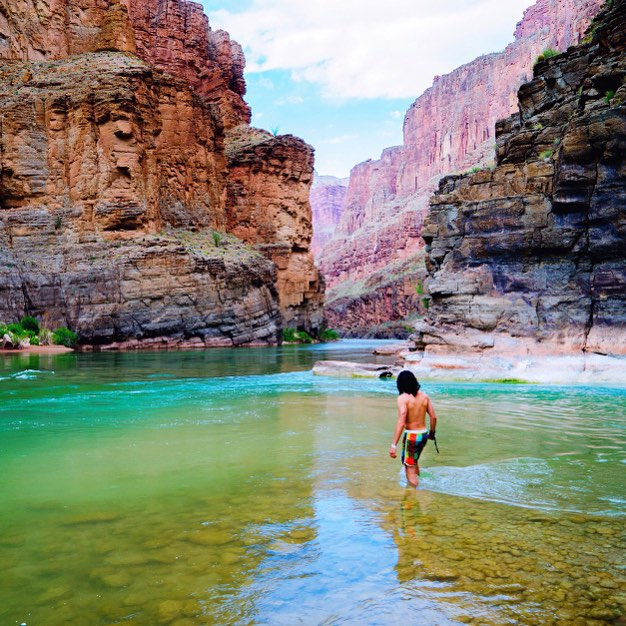 #Havasupai Tip No. 4: Hike to the Colorado River. It's about an 18-20 mile roundtrip hike from the campground and must be completed in one day as there is no overnight camping permitted along the trail, but it's worth every single step. The last tenth...