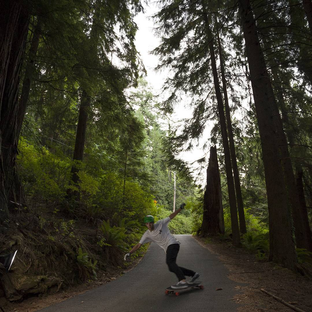 @willsmallwood_ putting weight on his toes with confidence through the dense bc forest.  #viciousrider